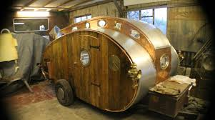 Retro Teardrop Camper This Teardrop Trailer Lets You Camp In Steampunk Style Make