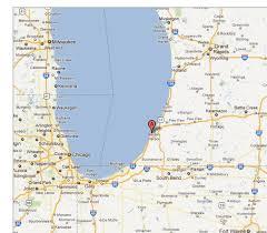 Lake Michigan Beaches Map by Gymnasts Kitesurfers Lake Michigan See More Michigan