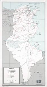 map of tunisia with cities large scale political and administrative map of tunisia with roads