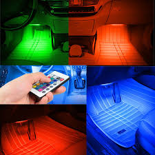rgb led light strips aliexpress com buy 4xcar decorative light car interior rgb led