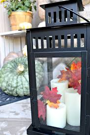 decorating lanterns for fall my uncommon slice of suburbia