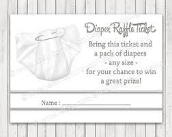 black baby shower diaper raffle tickets instant download