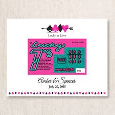 lottery ticket wedding favors lucky in lottery ticket holders 25 pcs las vegas wedding