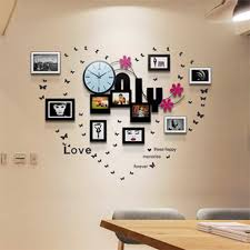 creative simple photo frame 10 silent wall clocks modern home