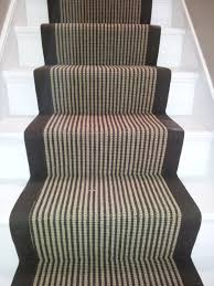 decorating sisal stair runners design with black frame ideas for