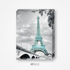 Eiffel Tower Room Decor Eiffel Tower Paris Wall Art Decor Canvas Matte Photo Paper