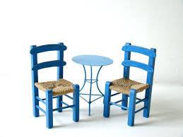 Blue Bistro Chairs Tiny Furniture Blue Bistro Set Miniature Prop Furniture
