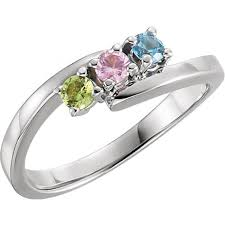 mothers rings with birthstones bypass mothers ring 3mm birthstones