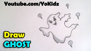 how to draw a ghost step by step for kids for halloween 2016 youtube