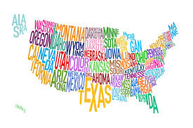map of the united states picture united states text map digital art by michael tompsett