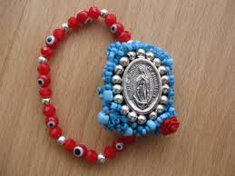 red bracelet with eye images Virgen de guadalupe mexican bracelet evil eye bracelet red jpg