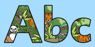 themed letters jungle themed display lettering jungle jungle display