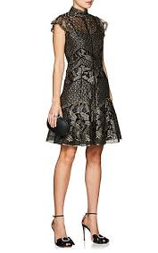 j mendel mixed lace cocktail dress barneys new york