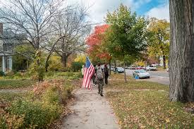 Fall Garden Flag Free Images Tree Trail Leaf Fall Sidewalk Flower Military