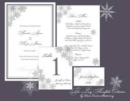 winter wedding programs lacy snowflake collection ceremony and reception papers winter