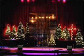 mason jar advent calendar church stage design ideas