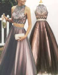 formal dresses two formal gown with beaded crop top backless prom dress
