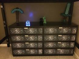 minecraft dresser or chest irl just added diamond ore paper to an