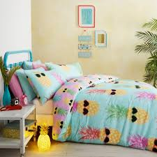 Girls Bright Bedding by Funky Pineapples Duvet Covers Qwerky Bedding For Girls Of All
