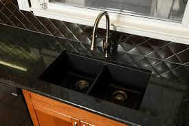 Before  After Progressive Countertop - Graphite kitchen sinks