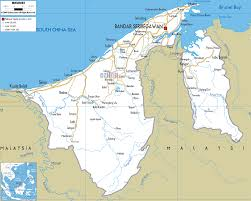 map in road detailed clear large road map of brunei ezilon maps