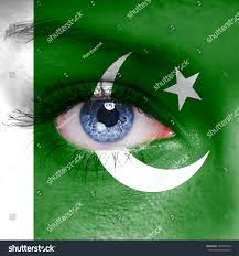 Pakistans Flag Pakistan Flag Painted On Woman Face Stock Photo 134768756