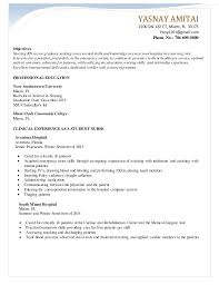 Resume For A Student 100 Nurse Extern Resume Recruiter Resume Samples Free Resumes