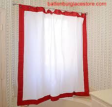 Fashion Shower Curtains Shower Curtains White Color Trim Battenburg Lace Store The Home