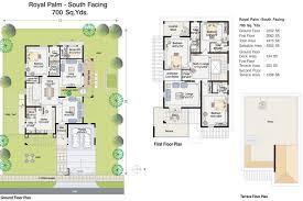West Facing House Vastu Floor Plans Villas And Floor Plans Palm Meadows Villas In Kompally Hyderabad