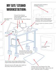 great ergonomic standing desk setup best images about cubicle