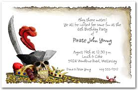 pirate u0027s gold birthday party invitations