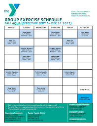 program schedules taylor family branch ymca