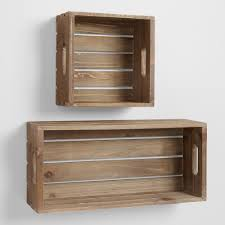Wood Shelves For Walls Wall Mounted Shelves And Wall Cubbies World Market