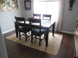 Modern Dining Room Rugs Black Square Table Closed Simple Chair Right For Stunning Dining