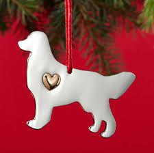 golden retriever ornament collar charm set