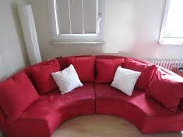 halbrundes sofa schickes halbrundes sofa knallrot oberhausen markt de