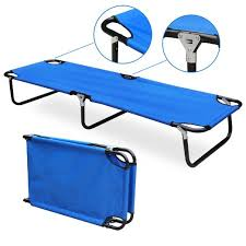 Folding Camp Bed Buy Trademark Innovations Portable Folding Camping Bed And Cot In