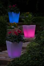 outdoor planter lights sacharoff decoration