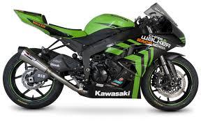scorpion serket taper slip on exhaust kawasaki zx6r 2009 2012