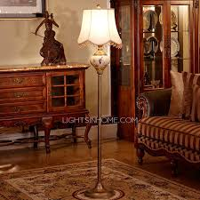 chic white beaded clearance floor lamps for living room