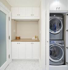 How To Hide Washer And Dryer by Calgary Stacked Washer Dryer Laundry Room Contemporary With Open
