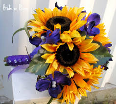 sunflower wedding bouquet sunflower wedding bouquet in bloom