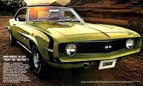 chevrolet camaro history 1969 chevy camaro