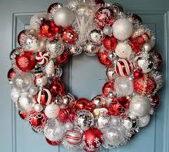 red and white christmas wreaths home