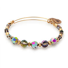 bead bracelet crystal images Mirror beaded bangle with swarovski crystals alex and ani png