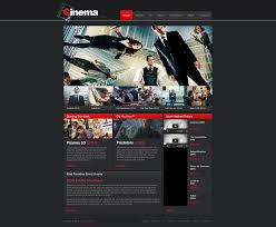 movie moto cms html template 47469
