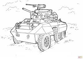 military hummer drawing m8 greyhound light armored car coloring page free printable