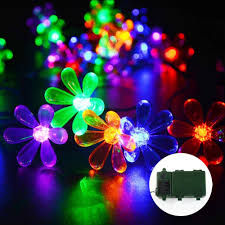 battery powered xmas lights 30 led string lights multi color flower series decoration lights
