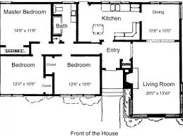 Simple Floor Plans With Dimensions by 2 Story Floor Plans Without Garage Small Three Bedroom House