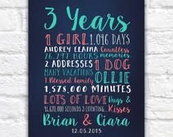 3 year anniversary gift ideas anniversary canvas etsy